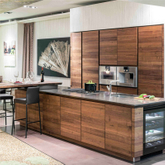 Modern Style Kitchen Cabinet Made of Composite Wood